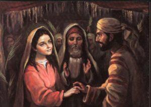Primer encuentro de José con María