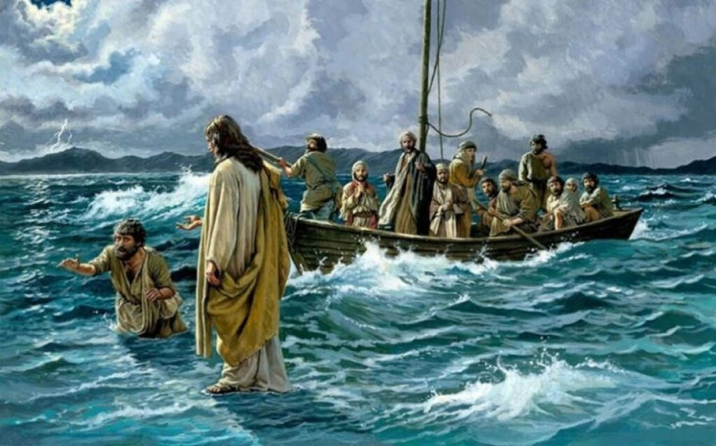 El señor anda sobre las aguas